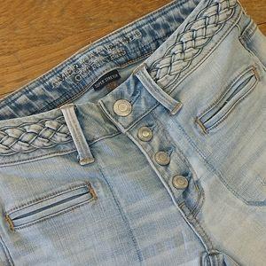 Boho Artist American Eagle Flare Jeans